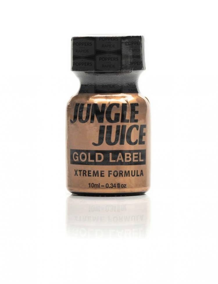 Petit flacon de poppers jungle juice gold label